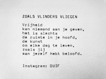 Gedicht DUIF