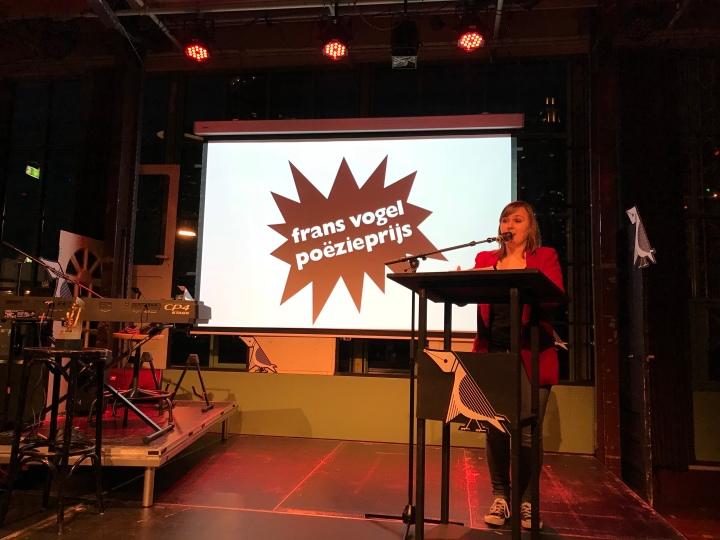 Lilian Zielstra wint de Frans Vogel Poëzieprijs